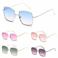 Women's Fashion Square Sunglasses Metal Frame Clear Lens Designer Shades Eyewear