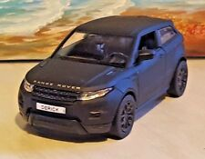 PERSONALISED PLATES RANGE ROVER EVOQUE - BLACK 1.36 MODEL CAR NEW BOYS TOYS GIFT