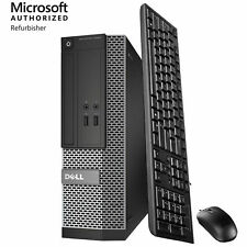 Dell Windows 10 Home or Pro Desktop Computer PC 3.1GHz 8G 500G 1TB 2TB + LCD