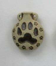 Ceramic Pottery Bottle-Necklace, High Fired Dog Paw Print Design