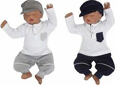100% Cotton Baby SET of 2 Jogging suit long sleeved shirt +Pants sz. 1 month 62