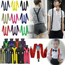Child Kid Mens Women's Lady Clip-on Suspenders Elastic Y-Shape LM