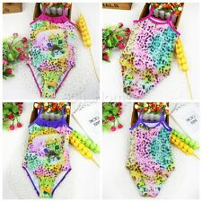 Toddler Baby Kids Girls One-piece Bikini Bathing Suit Leopard Swimwear Swimsuit