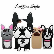 SUPER Cute Pet Puppy Dog Cartoon Soft Silicone Rubber Protective iPhone Case,USA