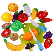 Fruit Role Play Fruit Vegetable Food Cutting Set Reusable New Pretend Kitchen LT