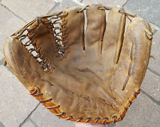 Vtg Rawlings Baseball Mitt Glove-Leather-TG24-Bob Turley-Trap-eze-Distressed-USA