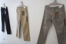 UNIQLO MENS FLAT FRONT CHINO PANTS NAVY KHAKI BROWN GREY OLIVE BLACK 30 32 34 36