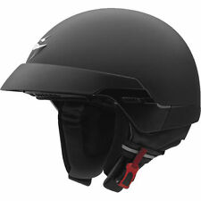 SCORPION EXO100 GLOSS MATT BLACK USA POLICE STYLE OPEN FACE MOTORCYCLE HELMET