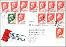 Yugoslavia registered cover 1969, to Germany