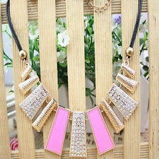 Fashion Women Jewelry Sector Pendant Crystal Chain Sector Necklace Choker Superb