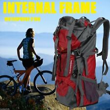 70L Waterproof Outdoor Camping Travel Hiking Bag Internal Frame Backpack Pack HM