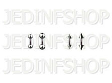 Straight Barbell Tongue Nipple Bar - 1.6mm (14g) - 6mm - Stainless Steel