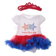 MagiDeal Happy 4th of July Star Infant Baby Girls Dress Body Suit with Headband