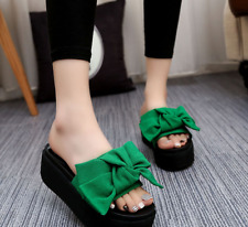 New Fashion Womens Sandals Bowknot Slippes Sandals Mules Slippers Platform Shoes