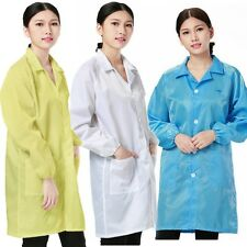 Medical ESD-Safe shield Anti-static Dustproof LAB Smock Clothes Unisex Coats New