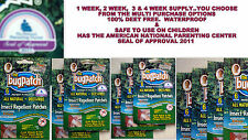 BUG PATCHES MOSQUITO & INSECT REPELLENT PATCHES 6,12,18,24-60 PACKS*YOU CHOOSE!!