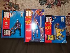 Shaquille O'Neal 3 Unopened Figure Lot-1993 Kenner-SHAQ ATTACK