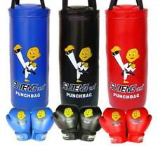 Kids Boxing Set Kit Unfilled Punch Bag MMA Punching Bags Gloves Heavy Bag