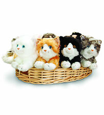 KEEL TOYS 25CM CATS KITTENS WHITE, BLACK AND WHITE, GINGER, GREY TABBY