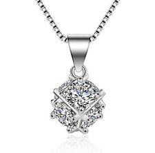 FASHIONS FOREVER® 925 Sterling Silver Designer Web-Ball AAA-CZ Necklace Pendant