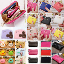 Cute Womens Leather Wallet Change Coin Purse Clutch Zipper Card Holder Small Bag