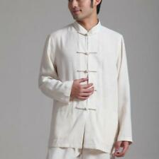 Handsome Chinese Style Men's Kung Fu Shirt Tops Beige Shirts Tops Blouse New