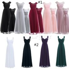 Women Formal Long Ball Gown Party Prom Cocktail Bridesmaid Wedding Evening Dress