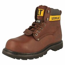 MENS CATERPILLAR SHEFFIELD ST STEEL TOE LEATHER LACE UP ANKLE SAFETY WORK BOOTS