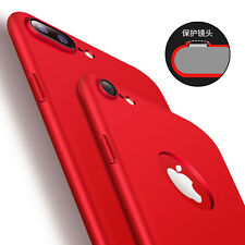 For iPhone 7 Plus 360° Full Case Tempered Glass Film+ Mirror Plating Phone Cover