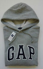 Mens GAP Logo GRAY HOODIE SWEATSHIRT Sizes XS, S, M , L, XL, 2XL - NWT