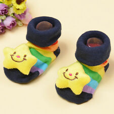 1 Pair Trendy Newborn Baby Girl Boy Cartoon Anti-slip Socks Slipper Shoes  POP