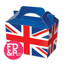 Union Jack UK England Party Boxes Food Loot Lunch Cardboard Gift Childrens Kids