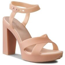 Melissa Woman's Classic Lady AD Light Pink Jelly Platform Heels Sandals Shoes