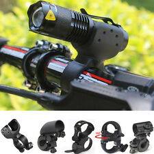 Bike Bicycle Cycling LED Torch Flashlight Mount Clamp Clip Grip Bracket Holder