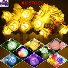 10 LED Fairy String Lights Rose Wire Lights Wedding Birthday Xmas Battery Lamps