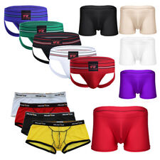 Seamless Men Ice silk Underwear Boxer Briefs Breathable Bulge Pouch Underpants
