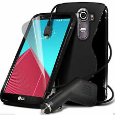 S-Line Slim TPU Wave Gel Rubber Phone Case✔In Car Charger for LG