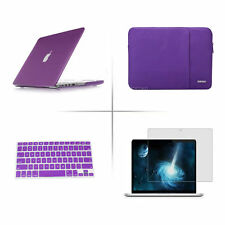 Satin Hard Case Rubberized keyboard Cover Sleeve bag For Apple macbook Air Pro