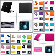 Rubberized hard case sleeve carry bag keyboard cover LCD Film For Apple macbook