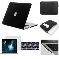 "Black Rubberized Matte Hard Case Cover Skin Set for Apple Macbook Pro 13"" Retina"