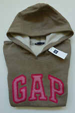 Womens GAP LOGO BROWN HOODIE SWEATSHIRT Sizes M, L, XL - NWT