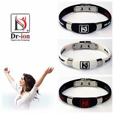 Dr-ion Negative Ion Bracelet Neg Ions Wristband Resizable Energy Power Health