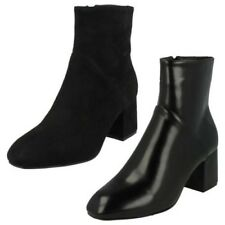 Ladies Spot On High Ankle Boots 'F50572'