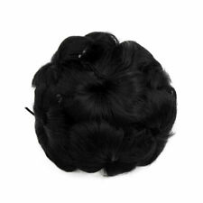 Synthetic Hair Chignon Curly Donut Bun Updo Ponytail Hairpiece Wig for Women