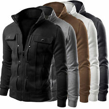 Hot Mens Slim Fit Stand Collar Coat Tops Military Jacket Winter Outwear Blazer