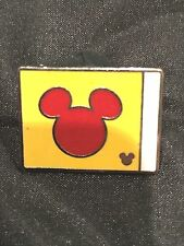 Disney Trading Pin Red Mickey Mouse Icon on Yellow Flag