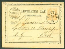 HUNGARY TOWN CANCEL on 1871 2kr POSTAL CARD - ENYING