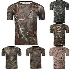 Summer Men's Military Camouflage Quick Dry Short-sleeves T-shirt Breathable New