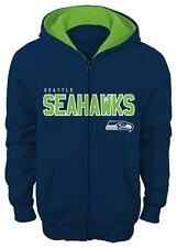 "Seattle Seahawks Youth NFL ""Stated"" Full Zip Hooded Sweatshirt"