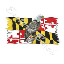 Maryland Flag Tattered Eagle Printed Vinyl Decal Wall Auto Truck SUV Car Sticker